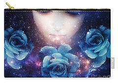 Carry-all Pouch featuring the digital art Sleeping Rose by Mo T