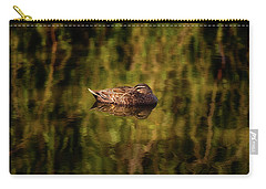 Carry-all Pouch featuring the photograph Sleepy Duck, Yanchep National Park by Dave Catley