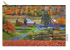 Sleepy Hollows Farm Woodstock Vermont Vt Autumn Bright Colors Carry-all Pouch