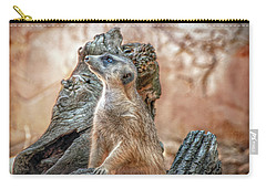 Carry-all Pouch featuring the photograph Slender-tailed Meerkat by Hanny Heim