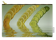 Carry-all Pouch featuring the photograph Slices  Grapefruit Lemon Lime Citrus Fruit by David French