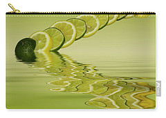 Carry-all Pouch featuring the photograph Slices Lemon Lime Citrus Fruit by David French
