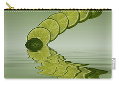 Carry-all Pouch featuring the photograph Slices Lime Citrus Fruit by David French