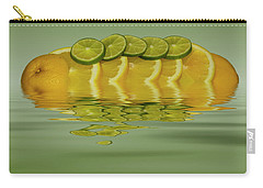 Carry-all Pouch featuring the photograph Slices Orange Lime Citrus Fruit by David French