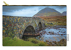 Carry-all Pouch featuring the photograph Sligachan Bridge View #h4 by Leif Sohlman