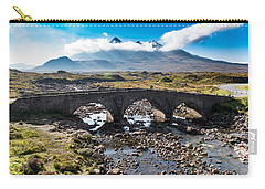 Carry-all Pouch featuring the photograph Skye Cuillin From Sligachan by Gary Eason