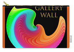 Carry-all Pouch featuring the photograph Slinky Dove Of Peace-the Gallery Wall Logo by Wendy Wilton