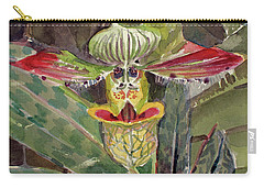 Carry-all Pouch featuring the painting Slipper Foot Aladdin by Mindy Newman