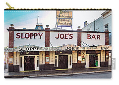 Carry-all Pouch featuring the photograph Sloppy Joe's Bar - Key West by Bob Slitzan
