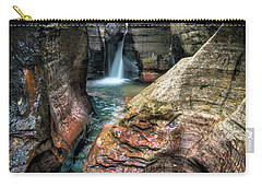 Slot Canyon Waterfall At Zion National Park Carry-all Pouch