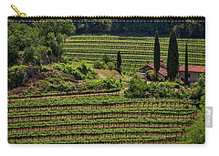Carry-all Pouch featuring the photograph Slovenian Vineyard by Stuart Litoff