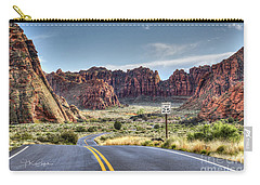 Slow Down In Snow Canyon Carry-all Pouch