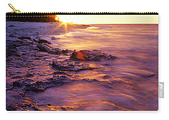 Carry-all Pouch featuring the photograph Slow Ocean Sunset by T Brian Jones