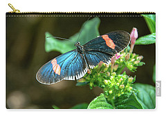 Small Black Postman Butterfly Carry-all Pouch