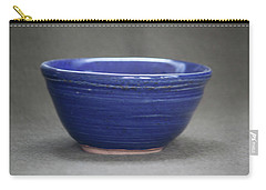 Small Blue Ceramic Bowl Carry-all Pouch by Suzanne Gaff