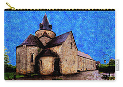 Carry-all Pouch featuring the photograph Small Church 1 by Jean Bernard Roussilhe