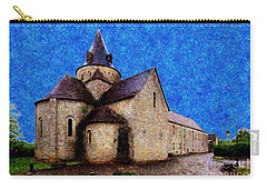 Carry-all Pouch featuring the photograph Small Church 3 by Jean Bernard Roussilhe
