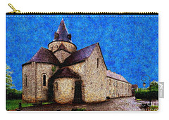 Carry-all Pouch featuring the photograph Small Church 4 by Jean Bernard Roussilhe