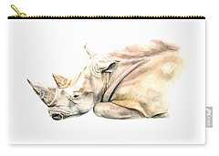 Small Colour Rhino Carry-all Pouch by Elizabeth Lock