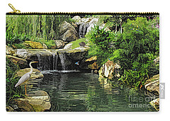 Small Creek Waterfall With Wildlife Carry-all Pouch
