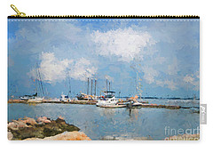 Small Dock With Boats Carry-all Pouch