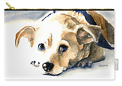 Small Dog With Tan Short Hair  Carry-all Pouch