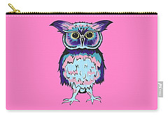 Small Owl Pink Carry-all Pouch