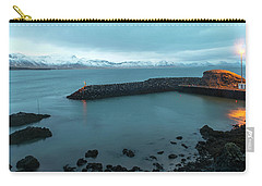 Carry-all Pouch featuring the photograph Small Port Near Snaefellsjokull Mountain, Iceland by Dubi Roman