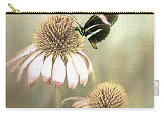 Small Postman Butterfly On Cone Flower Carry-all Pouch by Janette Boyd