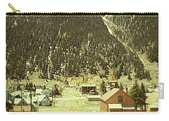 Small Rocky Mountain Town Carry-all Pouch by Jill Battaglia