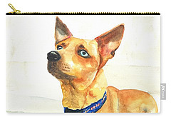 Small Short Hair Brown Dog Carry-all Pouch