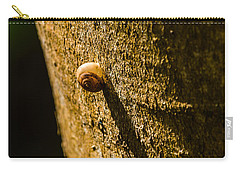 Small Snail On The Tree Carry-all Pouch