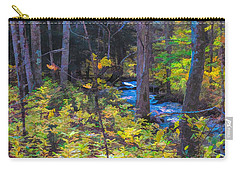 Small Stream Through Autumn Woods Carry-all Pouch
