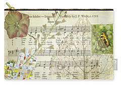 Carry-all Pouch featuring the mixed media Small Tortoiseshell Butterfly Collage by Jan Bickerton