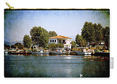 Carry-all Pouch featuring the photograph Small Town In Greece by Milena Ilieva