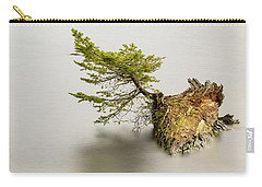 Small Tree On A Stump Carry-all Pouch