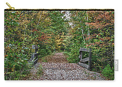 Carry-all Pouch featuring the photograph Small Trestle Along Rail Trail by Jeff Folger