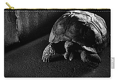 Carry-all Pouch featuring the photograph Small Turtle Exploring The Surroundings by Eduardo Jose Accorinti