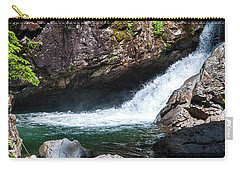 Small Waterfall In Mountain Stream Carry-all Pouch by Kirt Tisdale