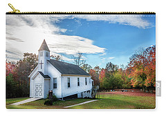 Small Wooden Church In The Countryside During Autumn Carry-all Pouch
