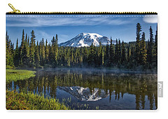 Misty Morning At Reflection Lake Carry-all Pouch