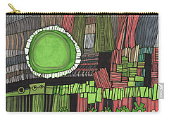 Sun Gone Green Carry-all Pouch by Sandra Church