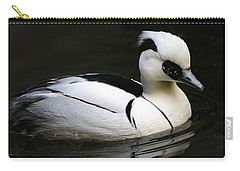 Smew Carry-all Pouch by Living Color Photography Lorraine Lynch