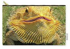 Smiling Bearded Dragon  Carry-all Pouch
