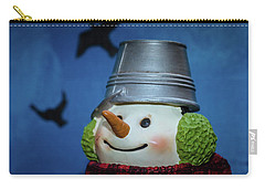 Smiling Snowman Carry-all Pouch