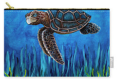Smirking Turtle Carry-all Pouch