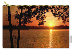 Smith Mountain Lake Silhouette Sunset Carry-all Pouch