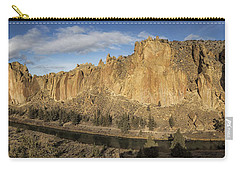 Carry-all Pouch featuring the photograph Smith Rock And Crooked River Panorama by Belinda Greb