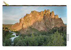 Carry-all Pouch featuring the photograph Smith Rock First Light by Greg Nyquist