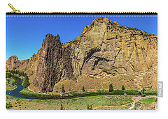 Carry-all Pouch featuring the photograph Smith Rock by Jonny D